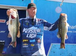 Chad Grigsby of Maple Grove, Minn., broke the 20-pound mark on day one and then added 23 pounds, 13 ounces to it today for a two-day total of 44 pounds, 1 ounce for fourth place.