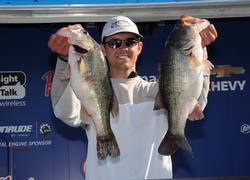 Bradford Beavers of Ridgeville, S.C., also stunned the weigh-in crowd on day two with a 32-pound limit, rocketing him into second place with a three-day total of 45 pounds, 2 ounces.