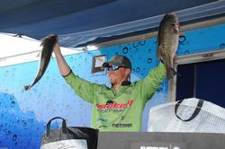 Ben Moon of Danielsville, Ga., turned in his best catch of the week - 24 pounds even - on the final day to jump from 10th to second.