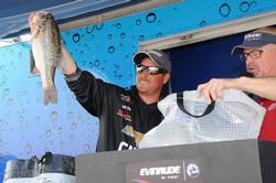 Bryan Thrift of Shelby, N.C., climbed to third place with a three-day total of 58 pounds, 2 ounces.