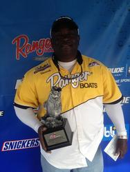 Co-angler Dererk Savage of Port St. Lucie, Fla., won the March 15 Savannah River Division event on Lake Hartwell with a 12-pound, 10-ounce limit. For his efforts, Savage was awarded over $2,200 in winnings.