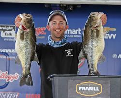 Fourth-place pro Lance Duff leveraged prespawn action for his day-one catch.
