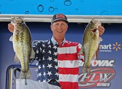 Slow presentations were the key for co-angler leader Kerry Barnett.
