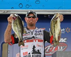 A late-day catch helped  Clark Reehm hold on to his third-place spot.