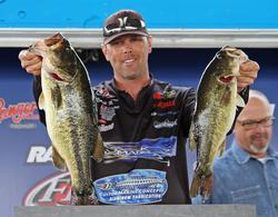 Fourth-place pro  Ronnie Wagner complemented his sight fishing with some moving baits.