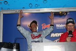 Russell Cecil reacts to the news of his Toledo Bend victory.