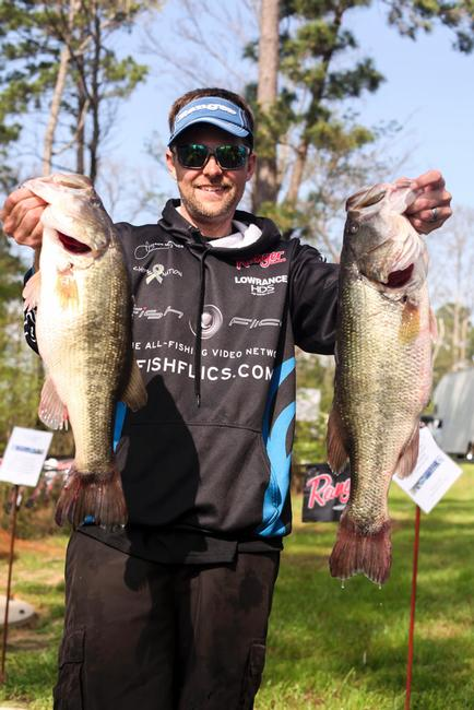 Jason Meninger improved to second today with the day's biggest limit, 24 pounds, 2 ounces.