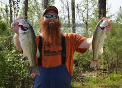 Co-angler Stephen Crawley took over the leader position with a 26-6 two day total.