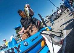 Stephen Crawley of Bush, La., had a productive weight in the co-angler ranks. He collected $5,000 for third place.