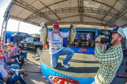 Mark Rose carries the lead to the final day of competition on Sam Rayburn Reservoir.