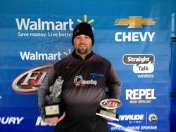 Co-angler Jason Cox of Salem, Ind., won the March 29 Hoosier Division event on Lake Patoka with three bass that weighed 12 pounds, 4 ounces. He took home over $2,000 for his efforts.