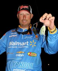 Wal-mart pro Wesley Strader will work a spinnerbait into his day-one mix.