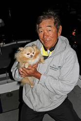 Bella joins Gary Yamamoto on every outing.