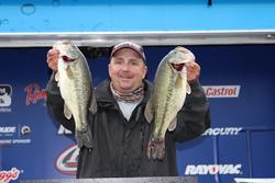 A trip to the local chiropractor put third-place pro Koby Kreiger back into fishing form.