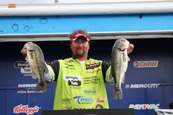 Moving baits were the ticket for fourth-place pro Koby Kreiger.