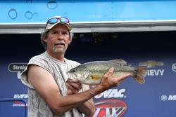 Second-place co-angler Jay Scott caught his division