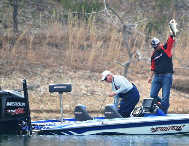 That 4-pound kicker largemouth certainly helped the cause on day two.