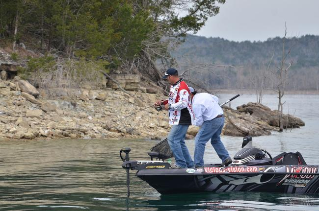 Back-reeling and careful, slow control are the keys to landing fish on light line.