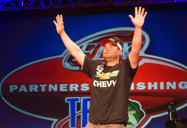 James Biggs is in disbelief as he is crowned The Bass Federation National Champion.