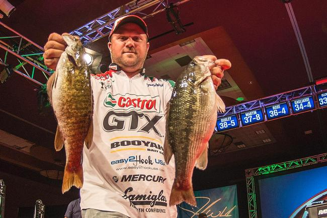 David Dudley has won on Beaver Lake before and moved up five places on day three.