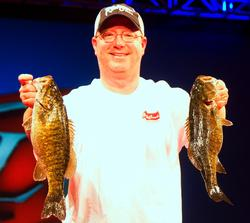 Todd Lee took second place on Beaver Lake this week for the co-anglers with the help of these fine smallmouth.