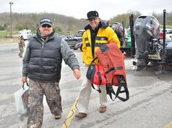 Dan Morehead and his partner Dr. Jimmy Long bring their fish to the stage.