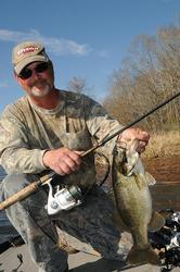 Kent Ware loves to punch vegetation with a spinning rod because he can often break through the mats with a lighter weight.