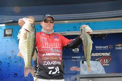 Robert Behrle of Hoover, Ala., is in fifth place with a two-day total of 47 pounds, 9 ounces.