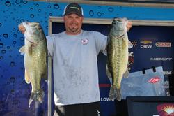 David Hendrick of Cherryville, Ala., in third place with a two-day total of 48-3