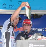 Bryan New of Belmont, N.C., was third in the Co-angler Division with 47-3