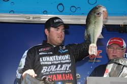 Michael Neal of Dayton, Tenn., finished third with a three-day total of 73 pounds, 1 ounce.
