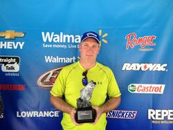 Co-angler Randy Hill of Murfreesboro, Tenn., won the April 26 Music City Division event on Center Hill with 11 pounds, 12 ounces. Hill took home over $1,600 for his victory.
