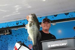 With a 10-pound, 10-ounce bass anchoring his sack, Chad Martin placed fifth on day one.