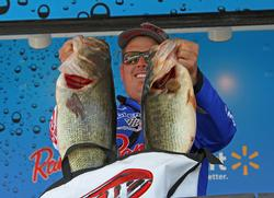 Downsizing his line helped Kyle Grover entice the fish that propelled him to the Cal Delta lead.