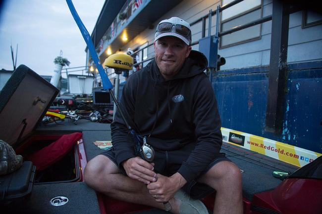 Todd Hollowell says a black-and-blue jig will be one of his go-to lures this week.