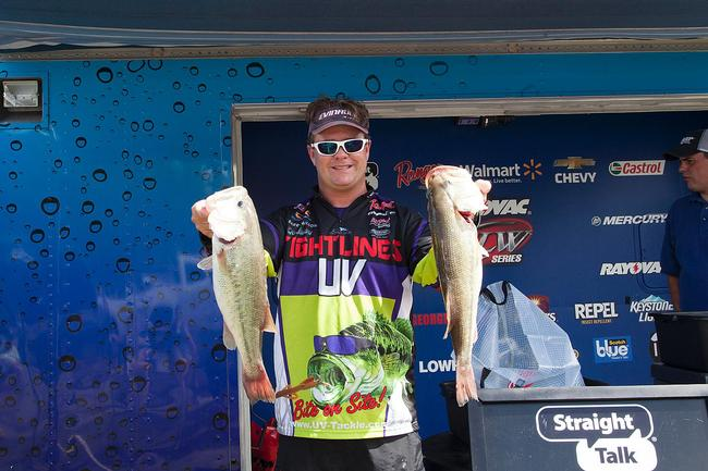 Alabama pro Barry Wilson relied on one key lure to catch all his fish on day one. He