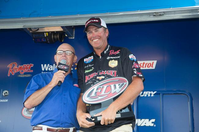 Randy Haynes now has seven first-place FLW trophies on his mantle, and six of those have come on the Tennessee River.