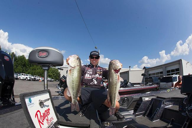 Brandon Hunter had four key places on Kentucky Lake this week that helped him make the top five.