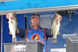 Football head jigs and crankbaits did the trick for second-place Timothy Feller.