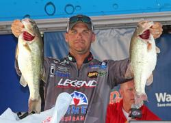 Third-place boater Todd Castledine caught two big fish at the tail end of his day.