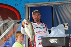 A morning topwater bite proved valuable for fifth-place boater George Kapiton.