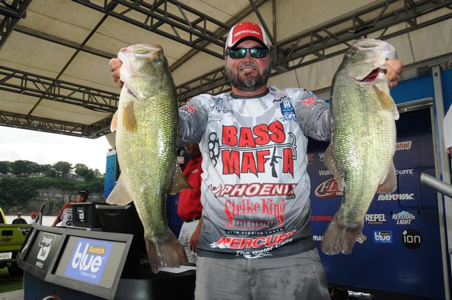 Greg Hackney is in fifth place after day one with 22-4.
