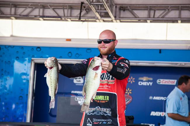It was a big finish for a big man this week on Pickwick Lake. Jason Johnson finished in fourth place on the co-angler side.