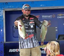 FLW Tour pro Jayme Rampey finished second on Wilson Lake.