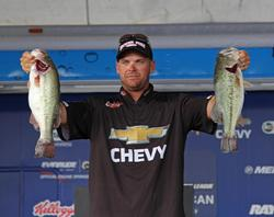 Sticking to one spot paid off for fourth-place Todd Castledine.
