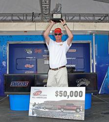 Co-angler winner Justin Sward was the only one in his division to break 20 pounds twice.