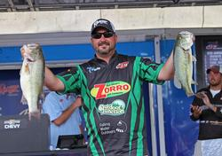 A Strike King 6XD was the bait of choice for third-place co-angler Brandon Maynard.