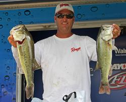 North Carolina pro Chris Baumgardner caught keepers on high and low water.