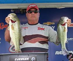 Top co-angler Kermit Crowder said specific casts to targeted cover was important to his success.