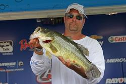 Third-place co-angler Jeremy Ives caught the day